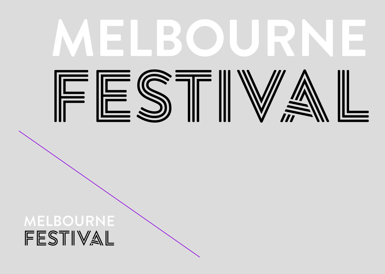 custom type, typografische Anpassung, typographic, adaptation, Jakob Runge,26+, 26plus, Type-Job, Dominic Forde, Famous Visual Services, Melbourne Festival, Art, inline, striped, optically improve