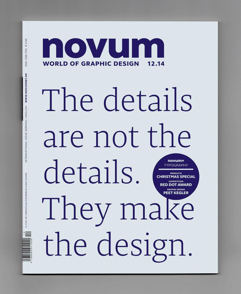 Novum Magazin Dezember 2014, jakob runge, Cover, Titelblat, design, Zitat, Gestaltung, Prägung, Typografie