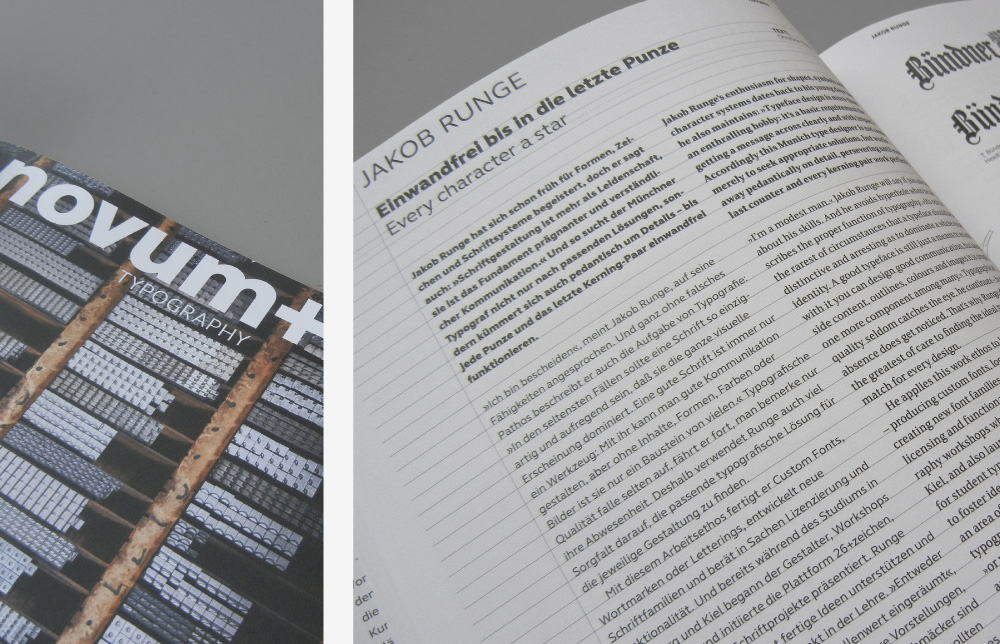 Novum Magazin Dezember 2014, jakob runge, Cover, Titelblat, design, Zitat, Gestaltung, Prägung, Typografie, novum+, schwerpunkt,